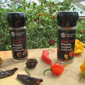 Fire Dragon Chilli Superhot Two Chilli Salt Grinder Pack