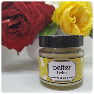 50g Jar with Yellow label, with yellow and red roses behind