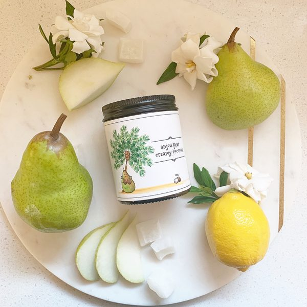 Anjou Pear & Creamy Coconut 160g candle by William and Emerson