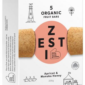 Zesti Organic Apricot and Manuka Honey Fruit Bars