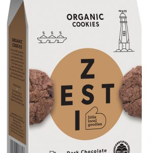 Zesti Dark Chocolate flavoured organic cookies