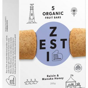 Zesti Organic Raisin and Manuka Honey Fruit Bars