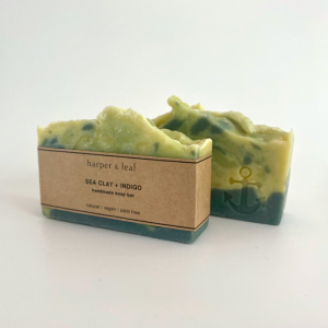 sea clay/indigo Soap duo