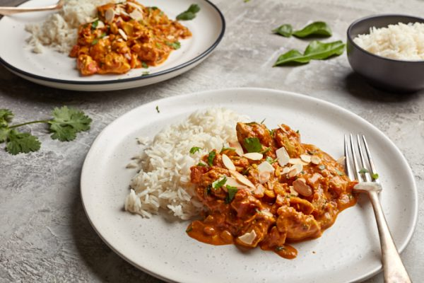 Free Range Chicken & Almond Curry with Basmati Rice