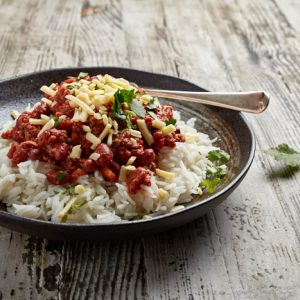Chilli Con Carne with basmati Rice