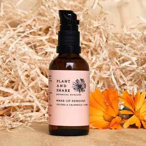 Organic Makeup remover made by Plant and Share